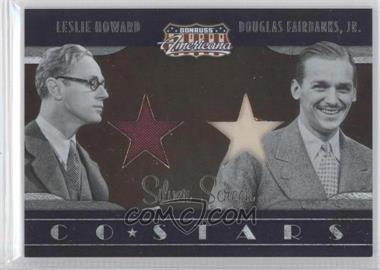 2009 Donruss Americana Co-Stars Materials #9 - Douglas Fairbanks Jr., Leslie Howard /250