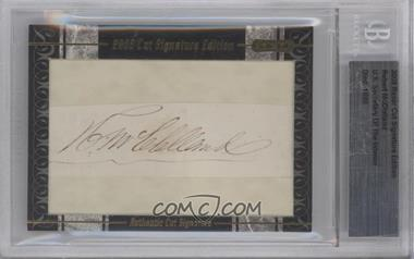 2009 Razor Cut Signature Edition Authentic Cut Signature #N/A - Robert McClelland [BGS AUTHENTIC]