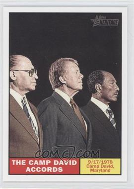 2009 Topps American Heritage #125 - The Camp David accords