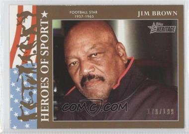 2009 Topps Heritage American Heroes Edition - Heroes of Sports - Gold #HS-21 - Jim Brown /199