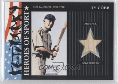 2009 Topps Heritage American Heroes Edition - Heroes of Sports - Relics [Memorabilia] #HSR-10 - Ty Cobb