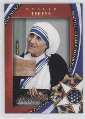 2009 Topps Heritage American Heroes Edition [???] #MOF-3 - Mother Teresa