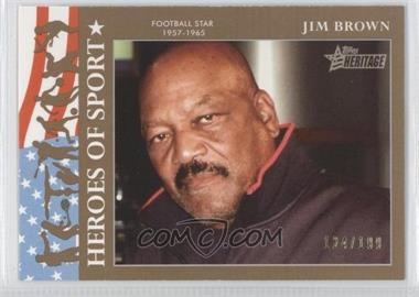 2009 Topps Heritage American Heroes Edition Heroes of Sports Gold #HS-21 - Jim Brown /199