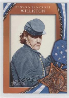 2009 Topps Heritage American Heroes Edition Medal of Honor #MOH-46 - Edward Bancroft Williston