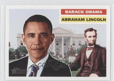 2009 Topps Heritage American Heroes Edition #144 - Barack Obama, Abraham Lincoln