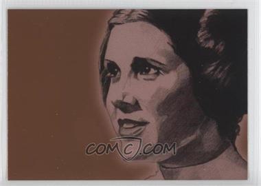 2009 Topps Star Wars Galaxy Series 4 Foil Art Bronze #2 - [Missing]
