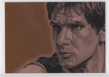 2009 Topps Star Wars Galaxy Series 4 Foil Art Bronze #3 - [Missing]