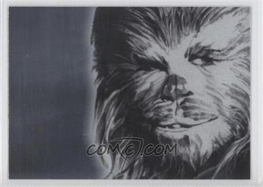 2009 Topps Star Wars Galaxy Series 4 Foil Art Silver #6 - Chewbacca