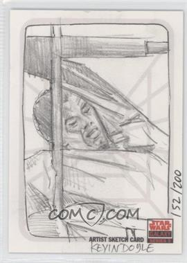 2009 Topps Star Wars Galaxy Series 5 Sketch Cards #KDUC - Kevin Doyle /200