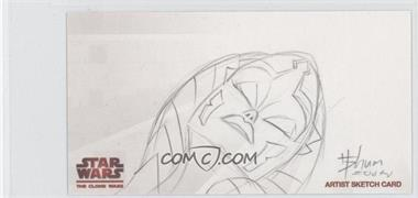 2009 Topps Star Wars: The Clone Wars Widevision - Sketch Cards #HSAT - Howard Shum (Ahsoka Tano) /1