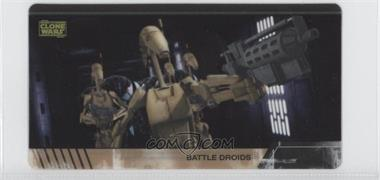 2009 Topps Star Wars: The Clone Wars Widevision Animation Clear Cels #N/A - Battle Droids