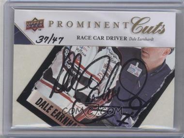 2009 Upper Deck Prominent Cuts - Cut Signatures #PC-DE - Dale Earnhardt /47