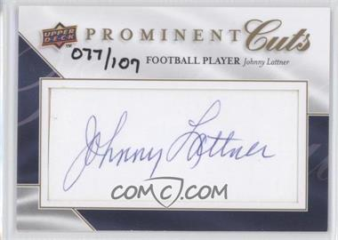 2009 Upper Deck Prominent Cuts Cut Signatures #PC-LAT - [Missing] /107