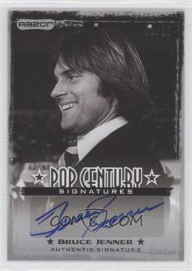 2010 Razor Pop Century Signatures Silver #AU-BJ1 - Bruce Jenner /25