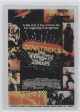 "2010 Rittenhouse The ""Quotable"" Star Trek Movies Movie Poster Cels #MP2 - Star Trek II: The Wrath of Khan"