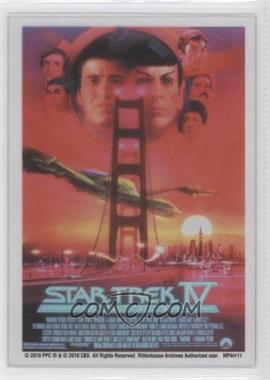 """2010 Rittenhouse The """"Quotable"""" Star Trek Movies Movie Poster Cels #MP4 - [Missing]"""