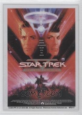 "2010 Rittenhouse The ""Quotable"" Star Trek Movies Movie Poster Cels #MP5 - [Missing]"