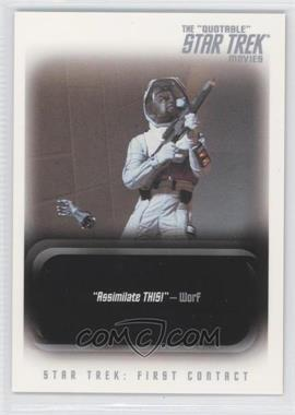 "2010 Rittenhouse The ""Quotable"" Star Trek Movies Promos #P1 - Star Trek: First Contact"