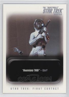 "2010 Rittenhouse The ""Quotable"" Star Trek Movies Promos #P1 - Star Trek: First Contact"