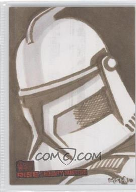 2010 Topps Star Wars: Clone Wars Rise of the Bounty Hunters - Sketch Cards #MMCT - Matthew Minor (Clone Trooper)