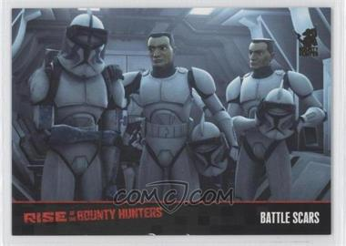 2010 Topps Star Wars: Clone Wars Rise of the Bounty Hunters Foil Stamp #10 - Battle Scars /100