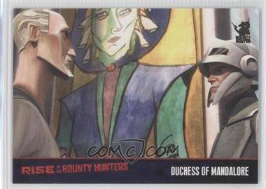 2010 Topps Star Wars: Clone Wars Rise of the Bounty Hunters Foil Stamp #54 - Duchess of Mandalore /100