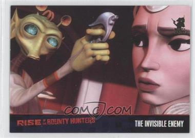 2010 Topps Star Wars: Clone Wars Rise of the Bounty Hunters Foil Stamp #60 - The Invisible Enemy /100