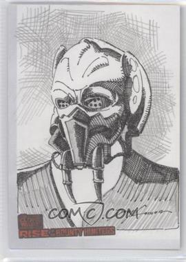 2010 Topps Star Wars: Clone Wars Rise of the Bounty Hunters Sketch Cards #DCR2 - Doug Cowan (R2-D2)