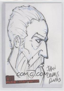 2010 Topps Star Wars: Clone Wars Rise of the Bounty Hunters Sketch Cards #JR - Juan Carlos Ramos (Count Dooku) /1