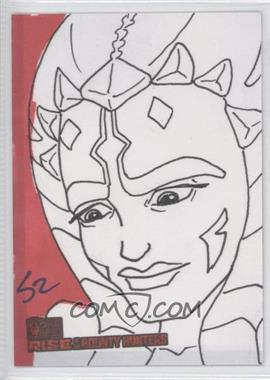 2010 Topps Star Wars: Clone Wars Rise of the Bounty Hunters Sketch Cards #SZAT - Scott Zambelli (Ahsoka Tano)