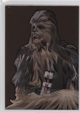 2010 Topps Star Wars Galaxy Series 5 - Foil Art - Bronze #3 - Chewbacca