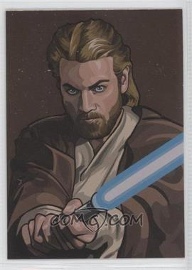 2010 Topps Star Wars Galaxy Series 5 - Foil Art - Bronze #9 - Obi-Wan Kenobi