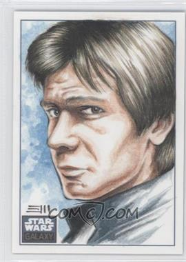 2010 Topps Star Wars Galaxy Series 5 - Sketch Cards #EMHS - Erik Maell (Han Solo) /1
