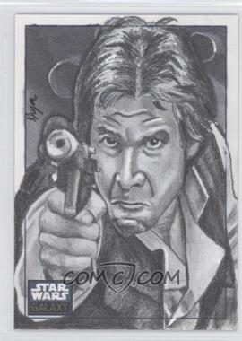2010 Topps Star Wars Galaxy Series 5 - Sketch Cards #N/A - Han Solo /1