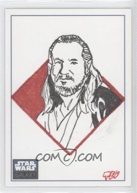 2010 Topps Star Wars Galaxy Series 5 - Sketch Cards #TDQJ - Ted Dastick Jr. (Qui-Gon Jinn) /1