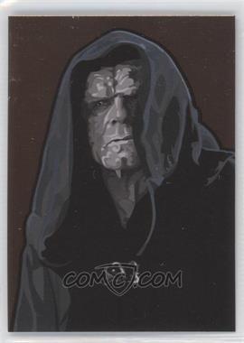 2010 Topps Star Wars Galaxy Series 5 Foil Art Bronze #11 - Emperor Palpatine