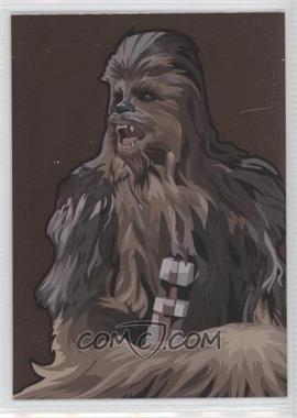 2010 Topps Star Wars Galaxy Series 5 Foil Art Bronze #3 - Chewbacca