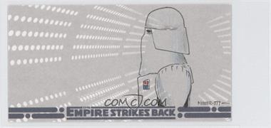 2010 Topps Star Wars: The Empire Strike Back 30th Anniversary 3D Widescreen - Sketch Cards #N/A - Unknown Artist (Snowtrooper)