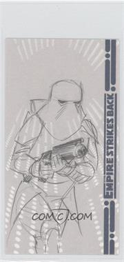 2010 Topps Star Wars: The Empire Strike Back 30th Anniversary 3D Widescreen Sketch Cards #N/A - Unknown Artist (Snowtrooper)