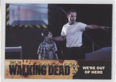 2011 Cryptozoic The Walking Dead Season 1 Checklist #73 - We're out of Here
