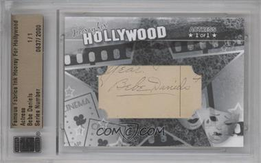 2011 Famous Fabrics Ink Hooray For Hollywood - Cut Signatures #BEDA - Bebe Daniels /1 [BGS/JSA Certified Auto]