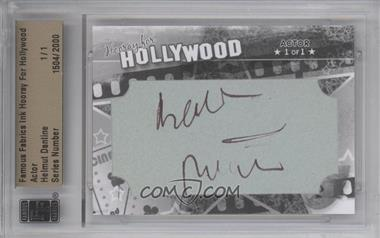 2011 Famous Fabrics Ink Hooray For Hollywood - Cut Signatures #HEDA - Helmut Dantine /1