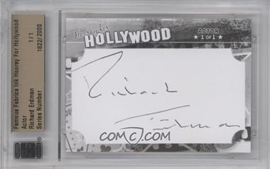 2011 Famous Fabrics Ink Hooray For Hollywood - Cut Signatures #RIER - Richard Erdman /1