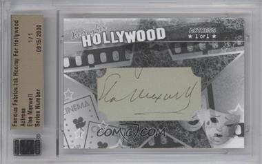 2011 Famous Fabrics Ink Hooray For Hollywood Cut Signatures #ELMA - Elsa Maxwell /1 [BGS/JSA Certified Auto]