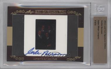 2011 Leaf Cut Signature Edition - Authentic Cut Signature #COBE - Corbin Bernsen /6 [BGS AUTHENTIC]