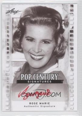 2011 Leaf Pop Century - [Base] #BA-RM2 - Rose Marie