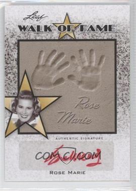 2011 Leaf Pop Century Walk of Fame #WF-2 - Rose Marie