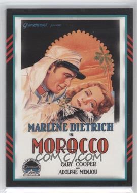 2011 Panini Americana - Movie Posters Materials Combo #48 - Gary Cooper, Marlene Dietrich /499