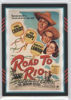 2011 Panini Americana Movie Posters Materials Combo #8 - Bob Hope, Dorothy Lamour /499