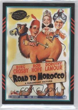 2011 Panini Americana Movie Posters Materials Quad #53 - Bing Crosby, Dorothy Lamour, Anthony Quinn, Bob Hope /225